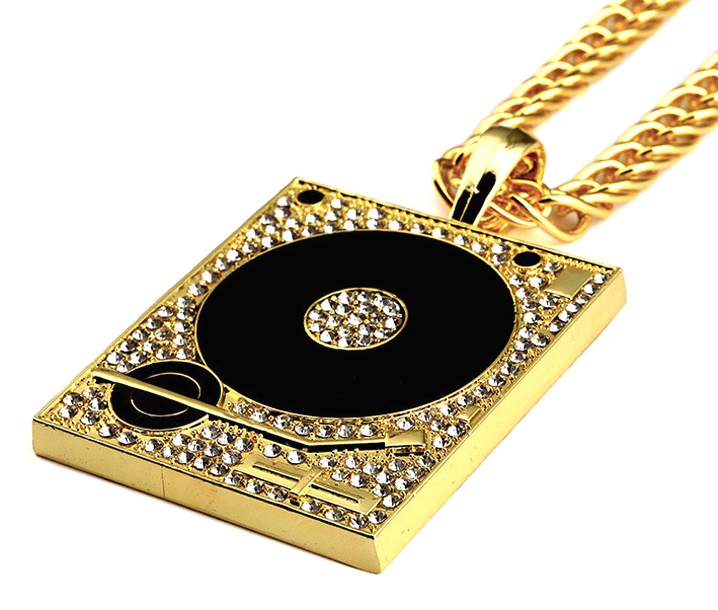 coolzdt Golden/plata tono DJ fonógrafo Tocadiscos DJ Unisex Hip ...