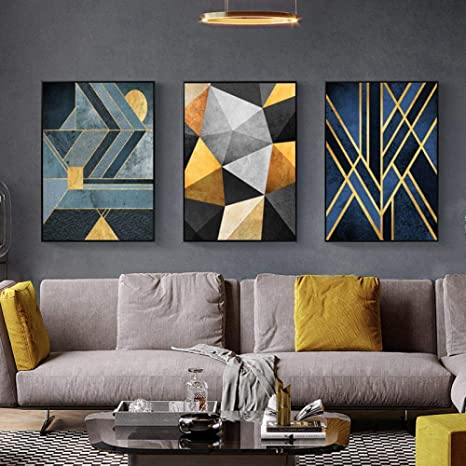 Geometric Pattern Poster Print Abstract Modern Canvas Painting Wall Art Nordic