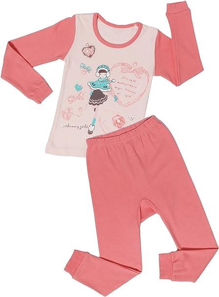 ChummyChummy Cotton Spring Summer Pajama Set 3//4 Sleeve Sleepwear Pjs Sets for Little Girls Boys Kids