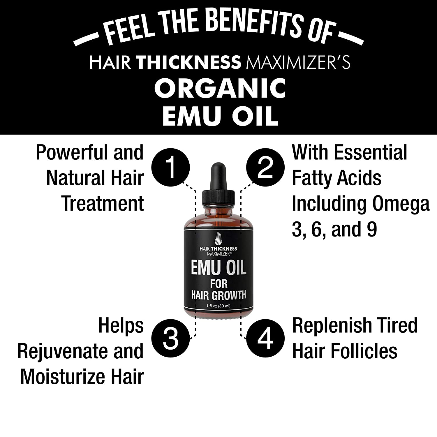 How long does emu oil take to work on hair? Within 30 days you will see improvement