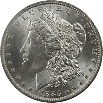 1883 $1 Morgan Silver Dollar US Coin AU About Uncirculated