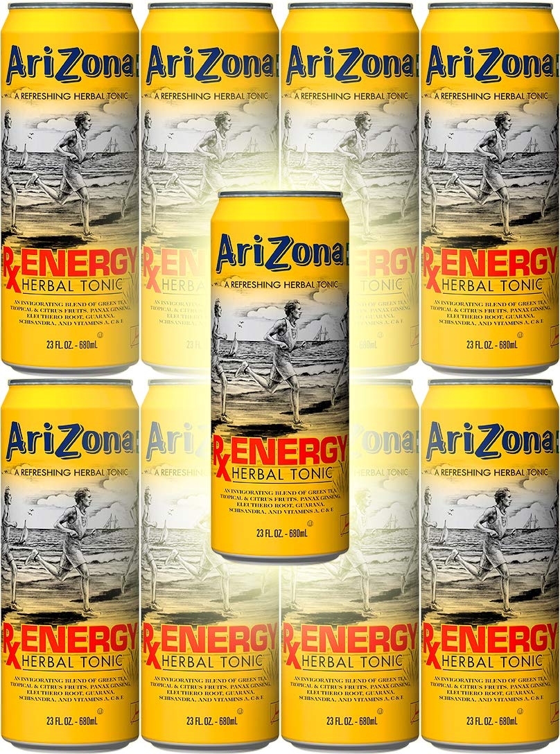 Arizona Tea RX Energy Herbal Tonic, 23 Ounce Cans (Pack of 8, Total of 184 Oz)