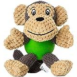 ALIPET ペット用おもちゃ, 犬用 おもちゃ 歯ぎ清潔 ストレス解消犬噛む ぬいぐるみ 発声装置搭載 音の出るおもちゃ 丈夫 ペットトイ ペット用品 運動不足解消 モンキーさん (5) (1) (1個セット)