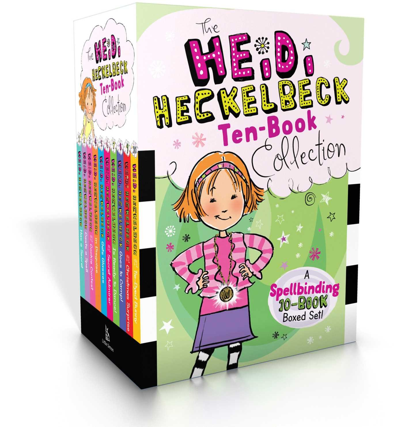The Heidi Heckelbeck Ten-Book Collection: Heidi Heckelbeck Has a Secret; Casts a Spell; and the Cookie Contest; in Disguise; Gets Glasses; and the ... Christmas Surprise; and the Tie-Dyed Bunny by Little Simon