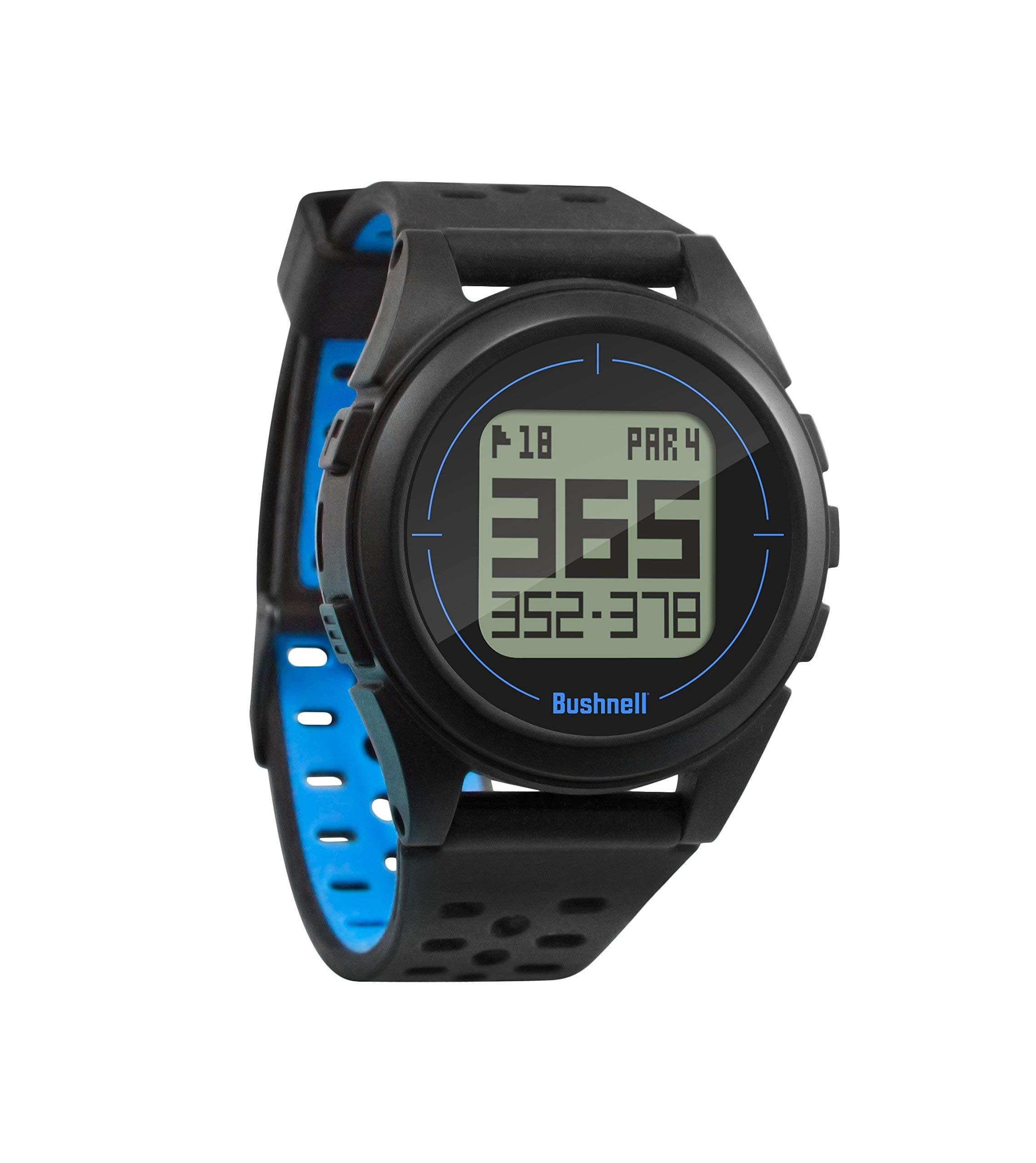 Bushnell Neo Ion 2 Golf GPS Watch, Black/Blue (Renewed)