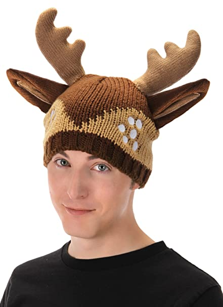 Amazon.com  elope Knit Deer Costume Hat with Antlers  Clothing ce2d61a04d1