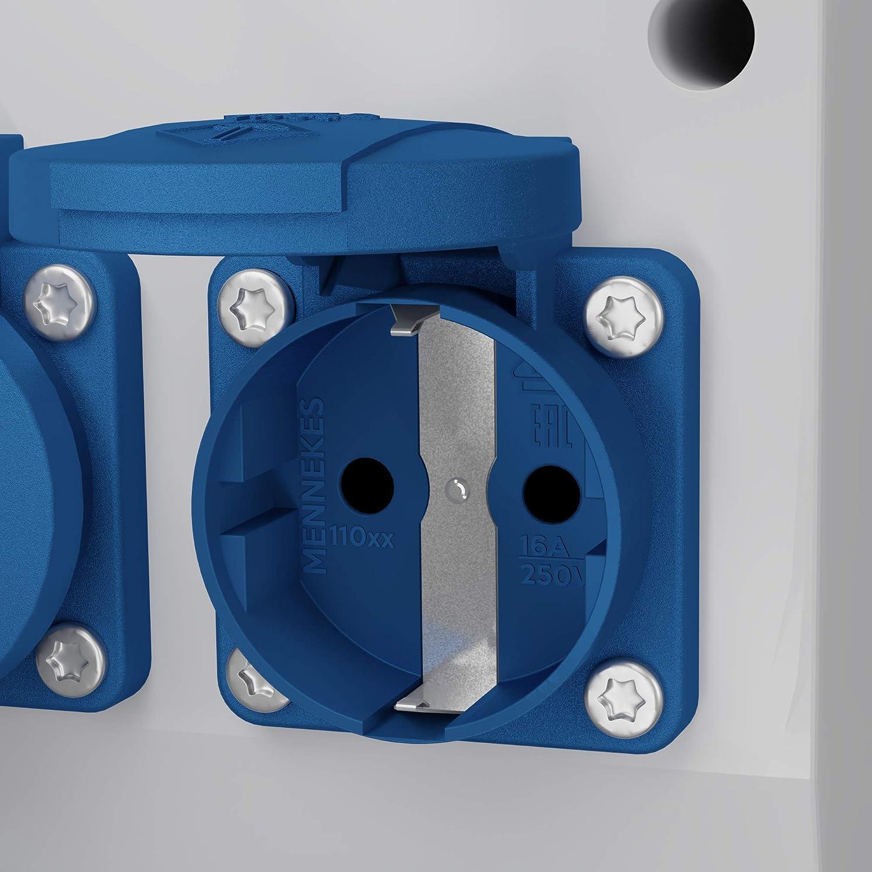 Stromverteiler TD-S//FI 2x16A 4x230 Wandverteiler Steckdosenverteiler Baustromverteiler 6565