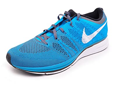 new product 25026 a18fd NIKE Men s Flyknit Trainer Neo Turquoise White-Dark Grey 10.5 D(M)