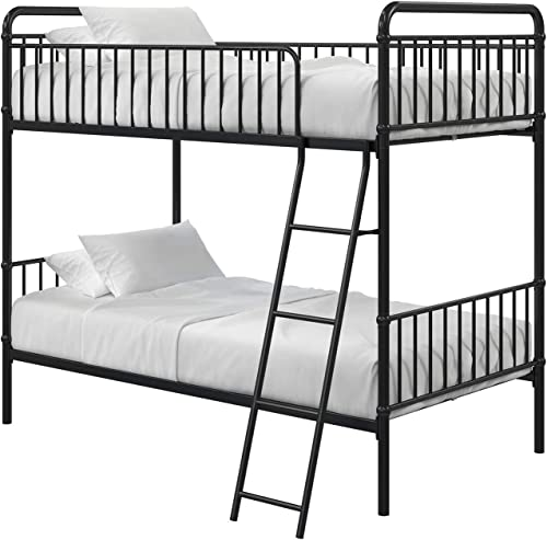 Max Finn Karcey Twin over Twin Metal Bunk Bed Frame