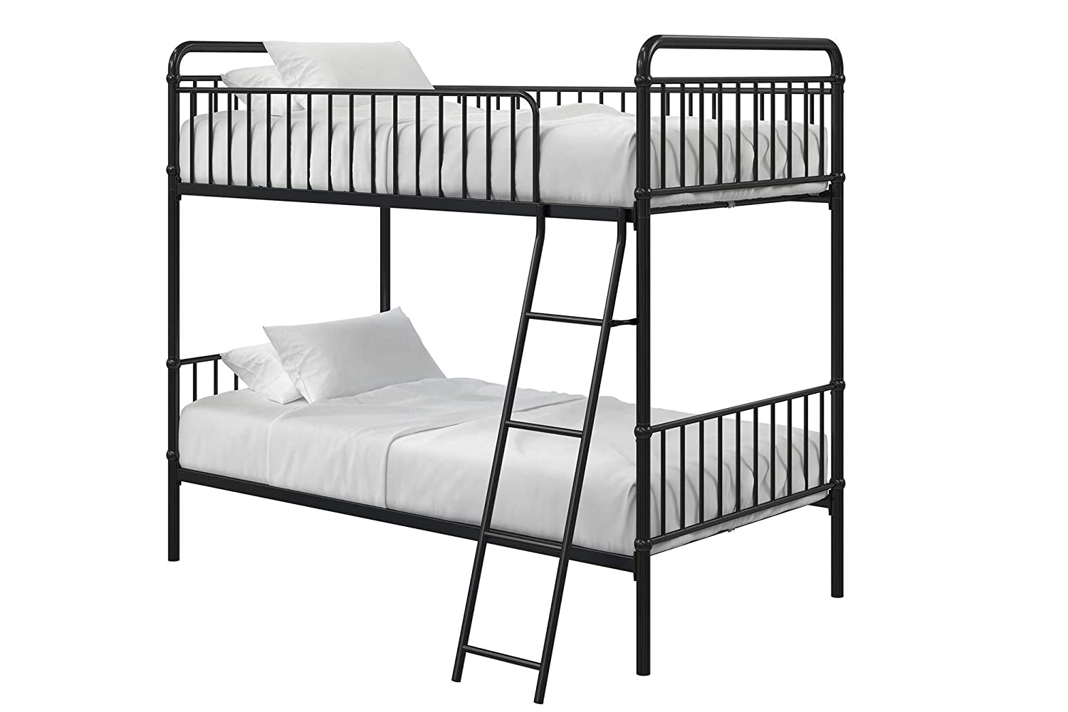 Max Finn Triple Bunk Bed, Twin Twin, Black