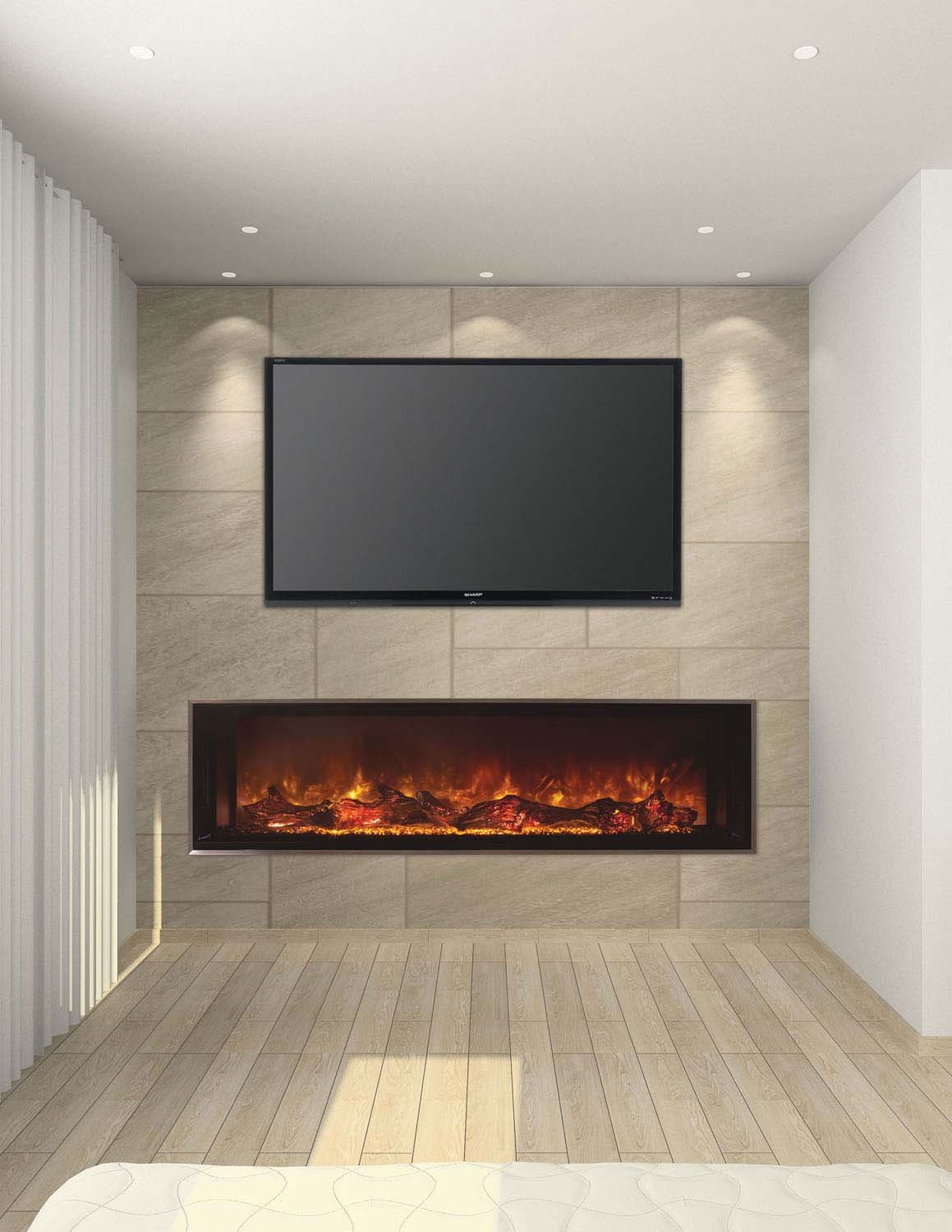 Amazon.com: Landscape FullView Series Electric Fireplace Size ...