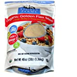 Stober Farms Organic Golden Flax Seed Cold-Milled Processed (48oz / 3lb / 1.36kg)