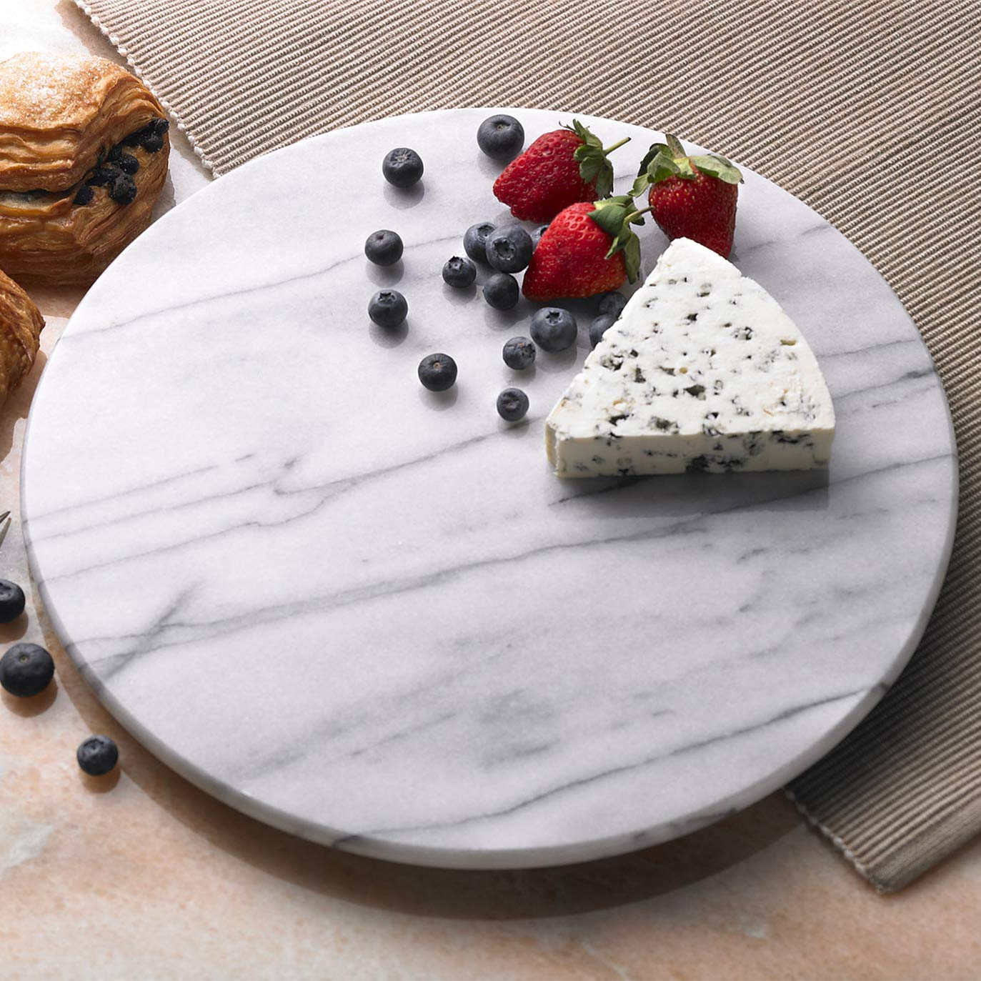 White Cheese Board Patterns May Very Trivet Creative Home 84077 Natural Marble 8 Diam
