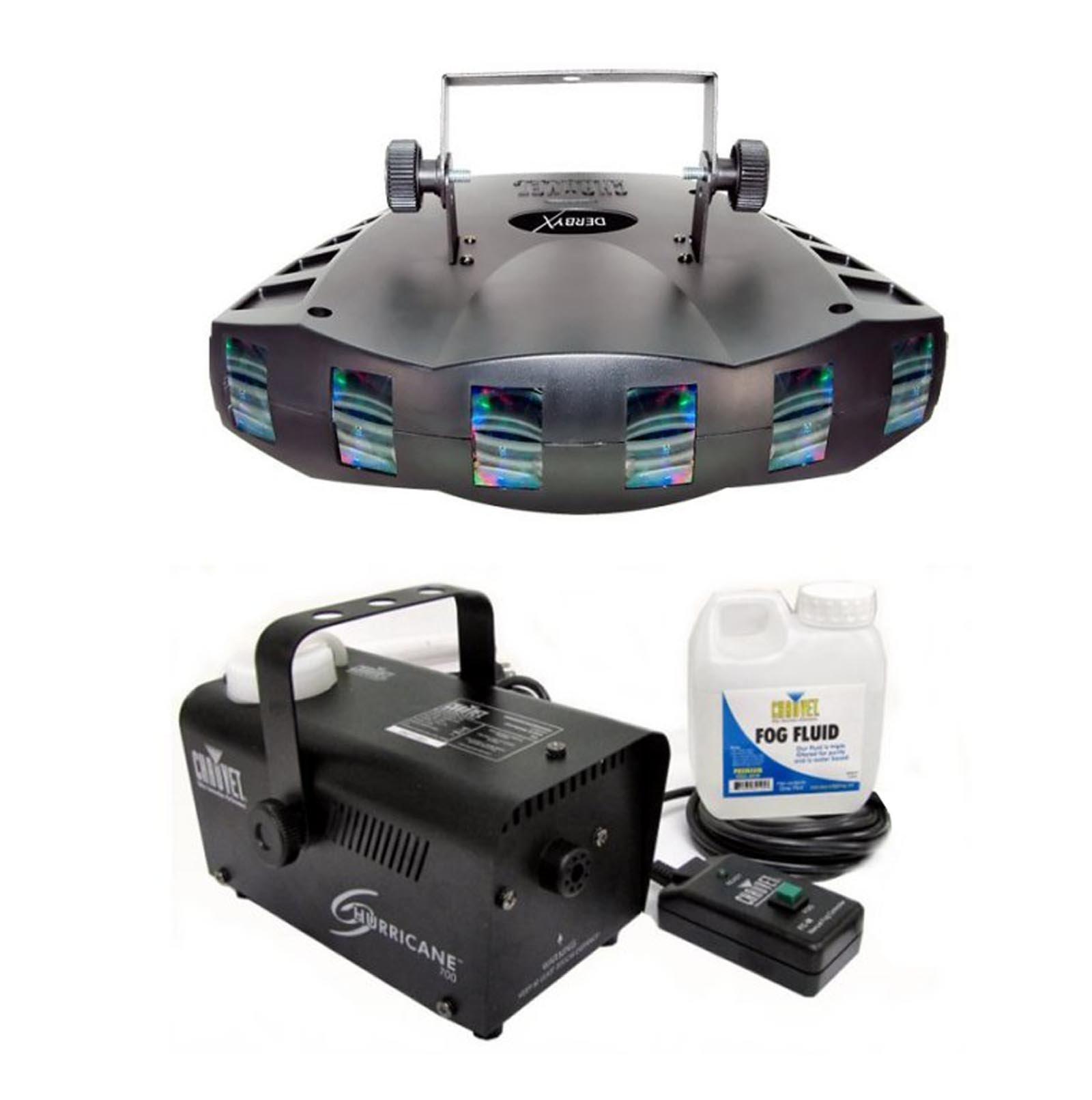 CHAUVET DERBY X RGB DMX Pro DJ Club Effect Strobe Light + H700 Fog/Smoke Machine by CHAUVET DJ