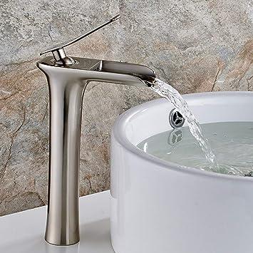 Hoch Waschtischarmatur Bad Wasserfall Waschbecken Wasserhahn Badarmatur Chrom