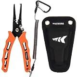 KastKing Cutthroat 7 inch Fishing Pliers, 420 Stainless Steel Fishing Tools, Saltwater Resistant Fishing Gear, Tungsten…