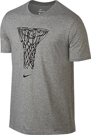 Nike M Nk Dry tee Basket Draw Camiseta de Manga Corta, Hombre, Gris (Dk Grey Heather), 2XL: Amazon.es: Deportes y aire libre