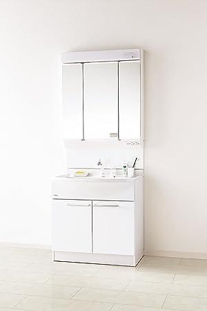 W750 洗面 ファーストプラス 洗面化粧台 75cm 送料無料 DLシリーズ 洗面台 洗面台 幅750mm 三面鏡
