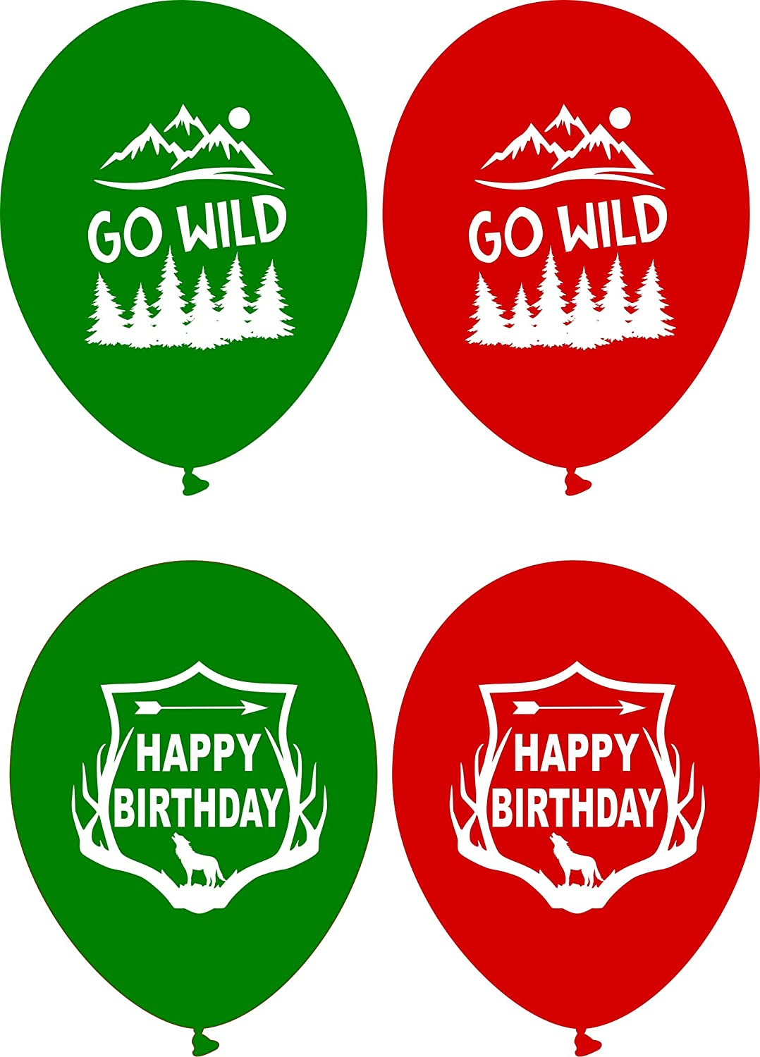Gypsy Jades Lumberjack Birthday Party Balloons Flannel Party Favors Big 12 Latex Balloons 36 pcs Woodland Go Wild One Party Supplies