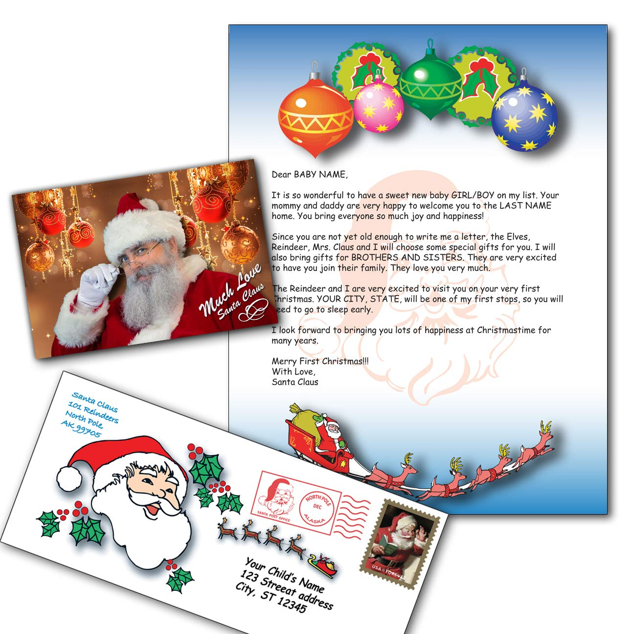 Amazon.com : Personalized Santa Letter : Paper Stationery : Office ...