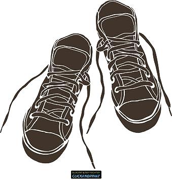 CLICKANDPRINT Aufkleber » Sneakers, 40x39,2cm, Carbon 3M DiNoc graubraun