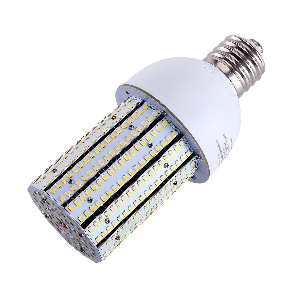 30W 5000K Daylight Led Corn Bulbs Large Mogul Screw E39 Base LED for Low Bay Street Lamp Post Lighting Garage Factory Warehouse (100W CFL/MH/HID/HPS)