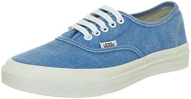 5ec37c6342 Vans Unisex Authentic Slim Washed Sneakers Blue M3.5 W5