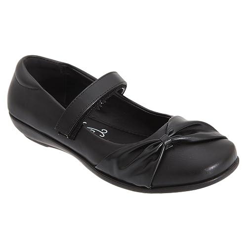 US Brass - Zapatillas de Material Sintético para niña Negro negro qw1PhNXC
