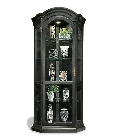 Philip Reinisch Color Time Panorama Corner Display Cabinet, Pirate Black
