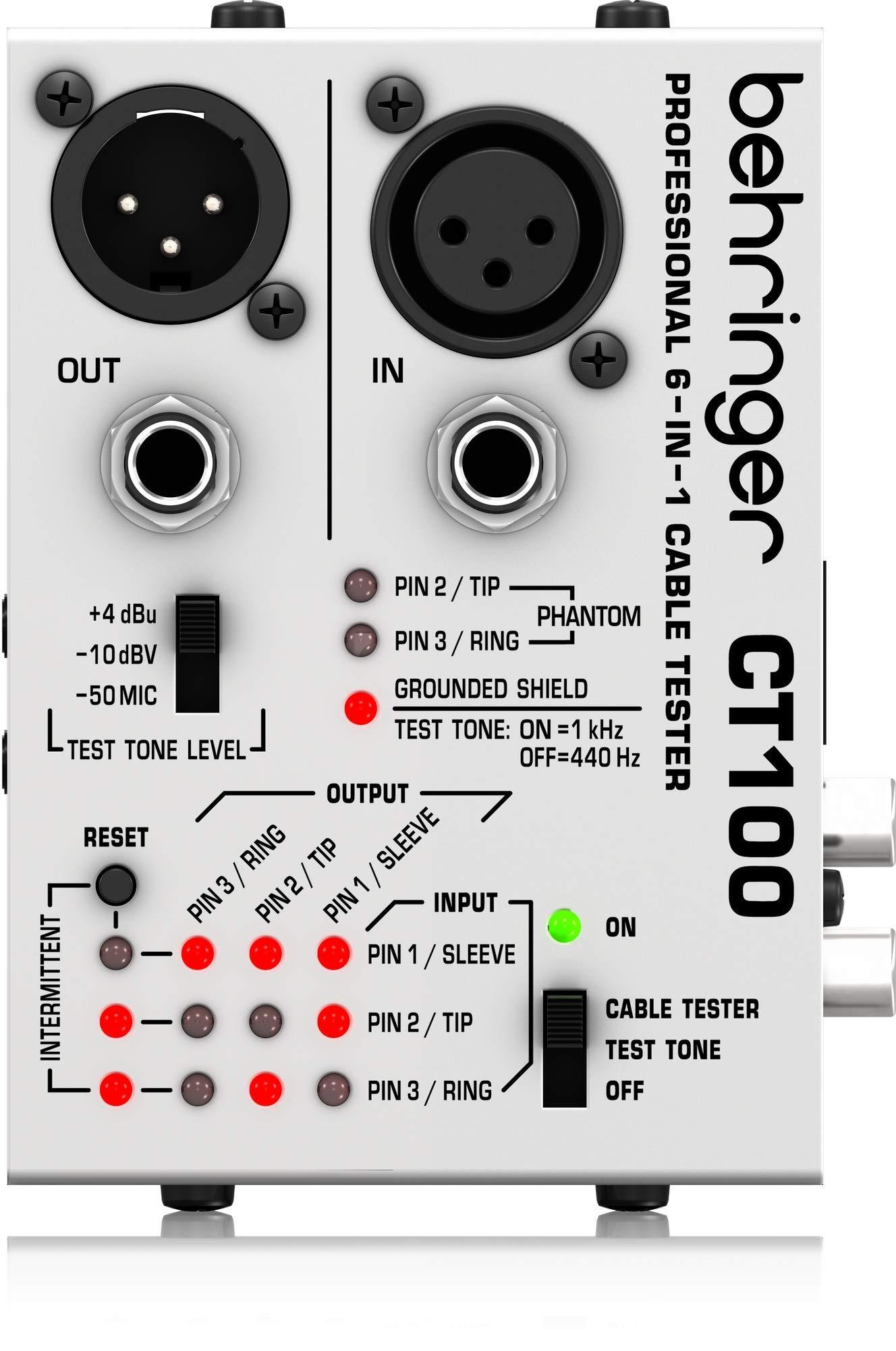 Behringer CT100 - Probador profesional de cables de instr...