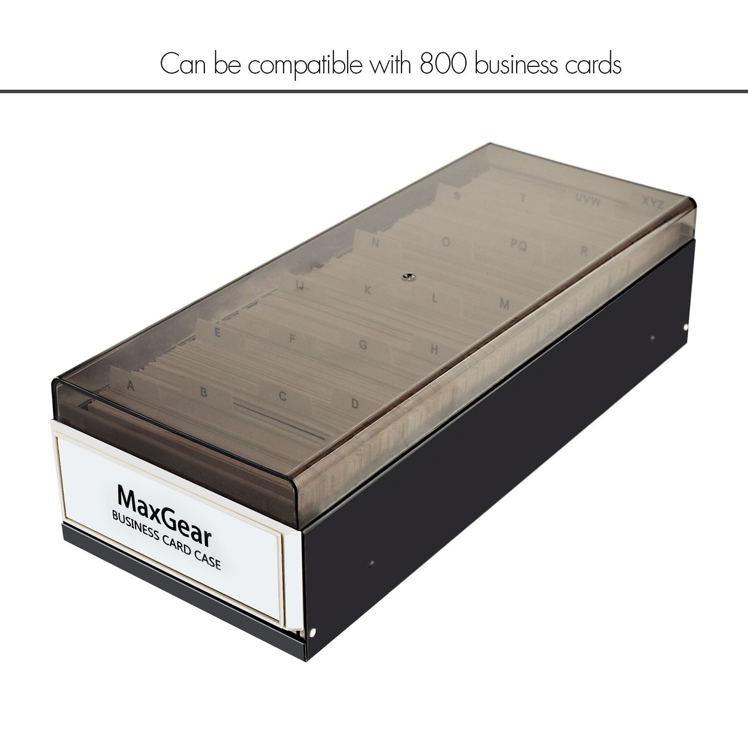 maxgear business card organizer business card file