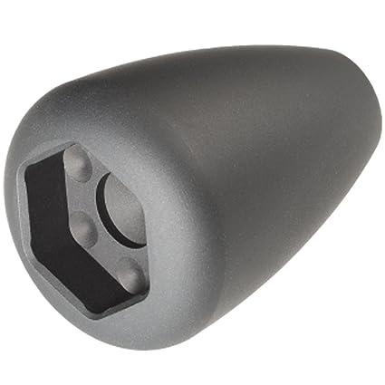 Black knob bare rails