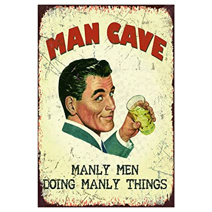 aedbdea2f AnnaStoree Metal Signs MAN CAVE MANLY MEN DOING MANLY THINGS Retro Vintage  Chic Style Decorative Old
