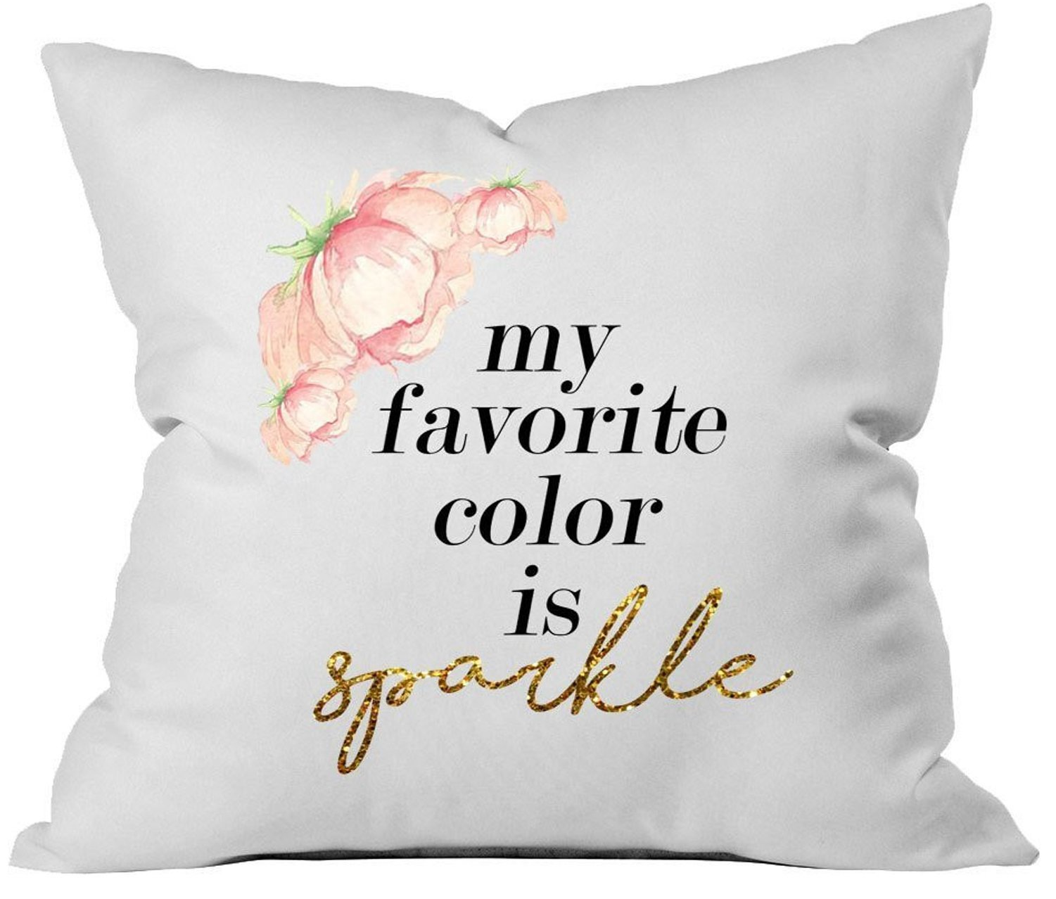 Oh, Susannah My Favorite Color Is Sparkle 18x18 Inch Throw Pillow Cover Valentines Day Gifts for Her Home Decor