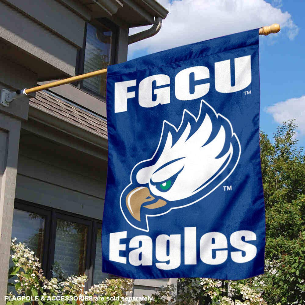 College Flags and Banners Co FGCU Eagles Banner House Flag