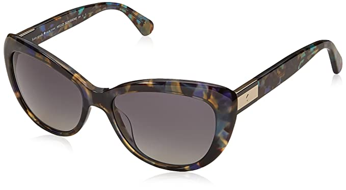 9fd5eaf5c2b43 Image Unavailable. Image not available for. Color  Kate Spade Women s  Emmalynn s Cateye Sunglasses BLUE HVNA 54 mm