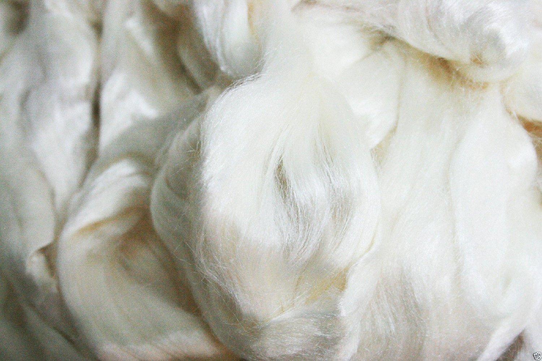 Yarn Place Tussah Silk Top Roving Spinning Felting Fiber 4 oz