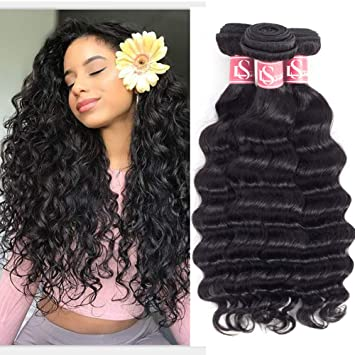 Amazon Com Lshair Loose Deep Wave 3 Bundles 14 16 18 Inches 300g