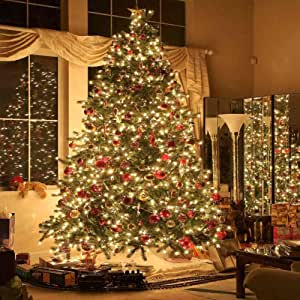 GladsBuy Fancy Christmas Tree 10 x 20 Computer Printed Photography Backdrop Christmas Theme Background ST-032