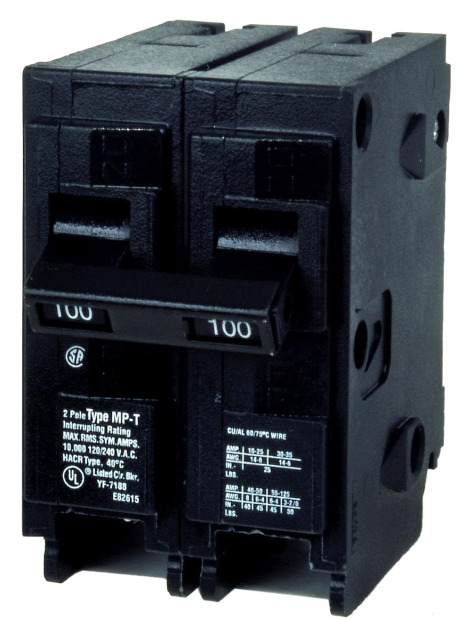 Murray MP2100ST 120/240-Volt type MP-T 100-Amp Circuit Breaker with 120-Volt Shunt Trip Double pole