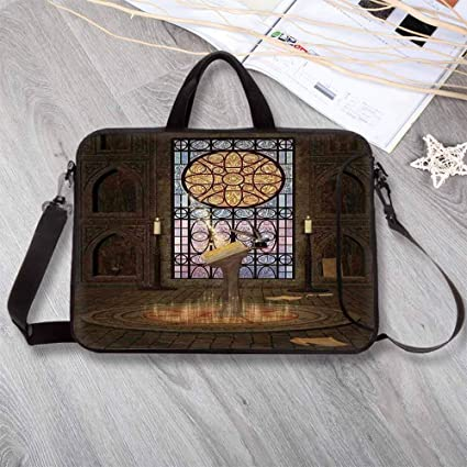 06f69a3a137e Amazon.com: Gothic Portable Neoprene Laptop Bag,Lectern on Pentagram ...