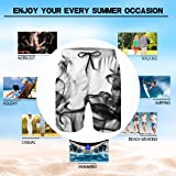 Alistyle Mens 3D Print Trunks Colorful Smoke