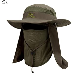 f29c35f26b4b3 Lover Outdoor UV Sun Protection Wide Brim Fishing Cap -Men and Women Face