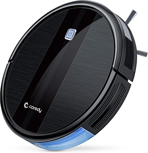 Coredy Robot Vacuum Cleaner, 1700Pa Strong Suction, Super Thin Robotic Vacuum, Multiple Cleaning Modes Automatic Self-Charging Robot Vacuum for Pet Hair, Hard Floor to Medium-Pile Carpets
