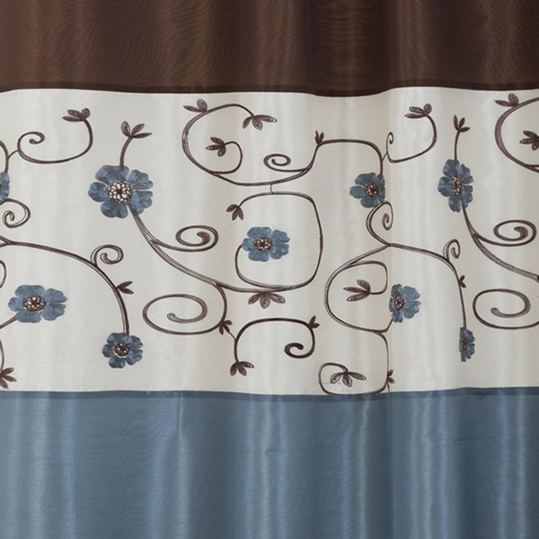 Amazon Lush Decor Royal Garden Shower Curtain 72 X Inches Blue Home Kitchen
