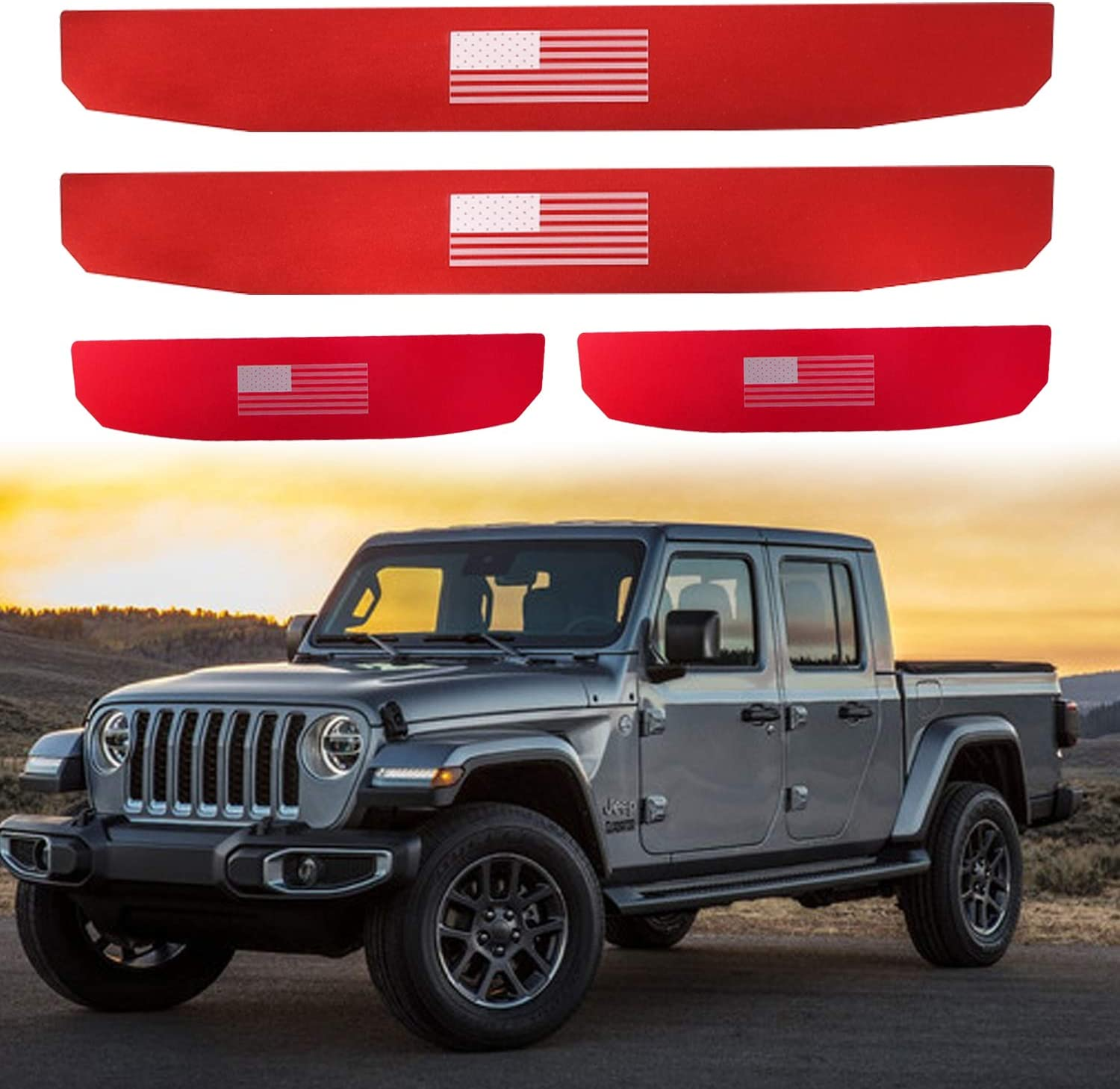 XBEEK Door Sill Guards for 2018-2019 Jeep Wrangler JL and 2020 Jeep Gladiator JT Accessories Entry Plate Cover with Since 1941 Logo Black