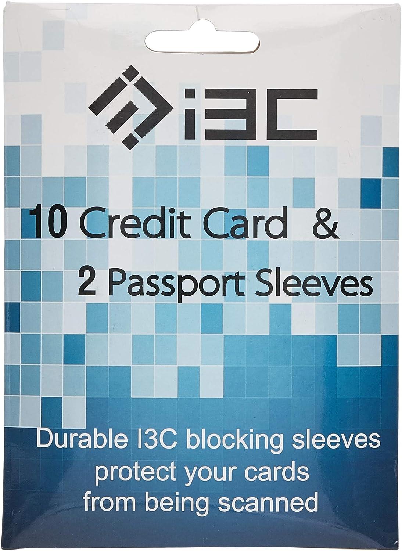 Credit Card Sleeves I3C Anti Theft Credit Card RFID Blocking Sleeves Protector Passport Holder Sleeves 5 Credit Card Sleeves 1 Passport Sleeves