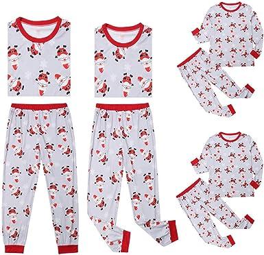 DISCOUNTL Pijamas de Navidad a juego para familias de Navidad ...