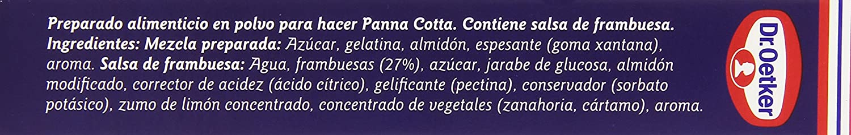 Dr. Oetker Panna Cotta con Salsa de Frambuesa - 110 g