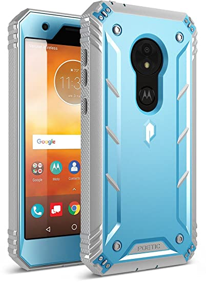 huge discount b6146 7954f Moto E5 Play Rugged Case, Moto E5 Cruise Rugged Case, Poetic Revolution  [360 Degree Protection] Full-Body Rugged Heavy Duty Case with  [Built-in-Screen ...